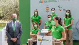 Carolina Marín, en el evento de Iberdrola