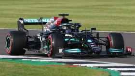 Lewis Hamilton en el Gran Premio de Silverstone