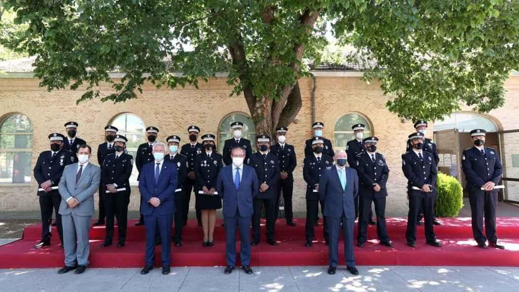 Toma de posesión de los nuevos agentes de la Policía Local. Foto: Óscar Huertas