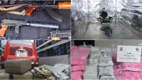 Algunas de las drogas, armas o instrumentos de tortura incautados a los holandeses estos años.