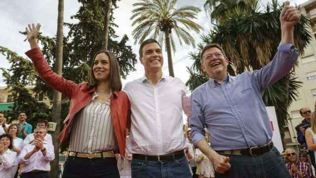 Diana Morant, Pedro Sánchez y Ximo Puig, en una imagen de archivo. EFE