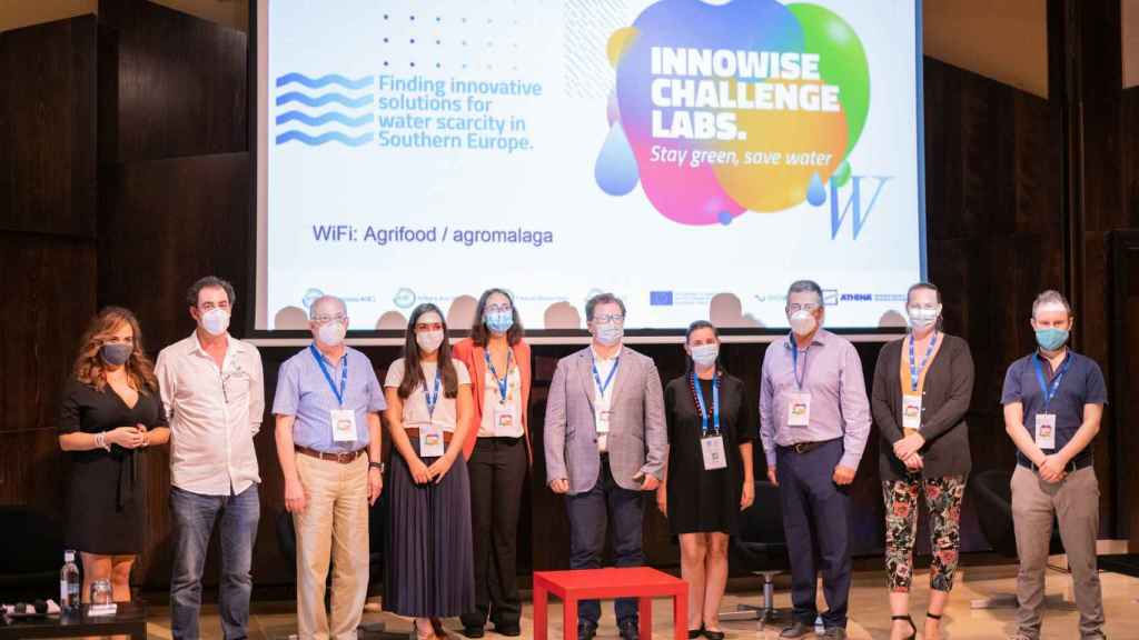 Entrega de premios a las startups participantes en la anterior convocatoria del programa 'Water Scarcity'.