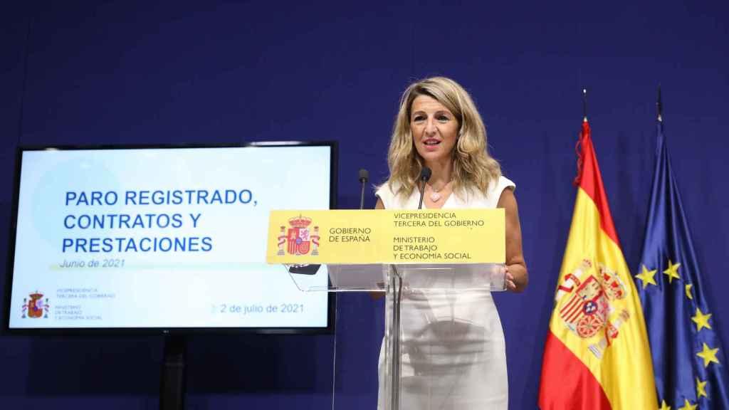 Yolanda Díaz, vicepresidenta segunda de Trabajo y Economía Social.