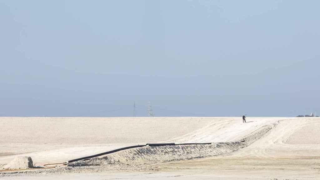 La balsa de los fosfoyesos de Huelva.