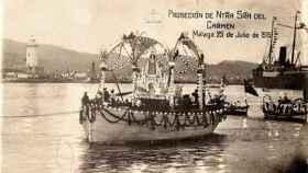 Bendición de las aguas del Puerto de Málaga, 1915