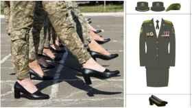 Imagen de los zapatos con los que iban a marchar las mujeres soldado en el desfile del próximo 24 de agosto.