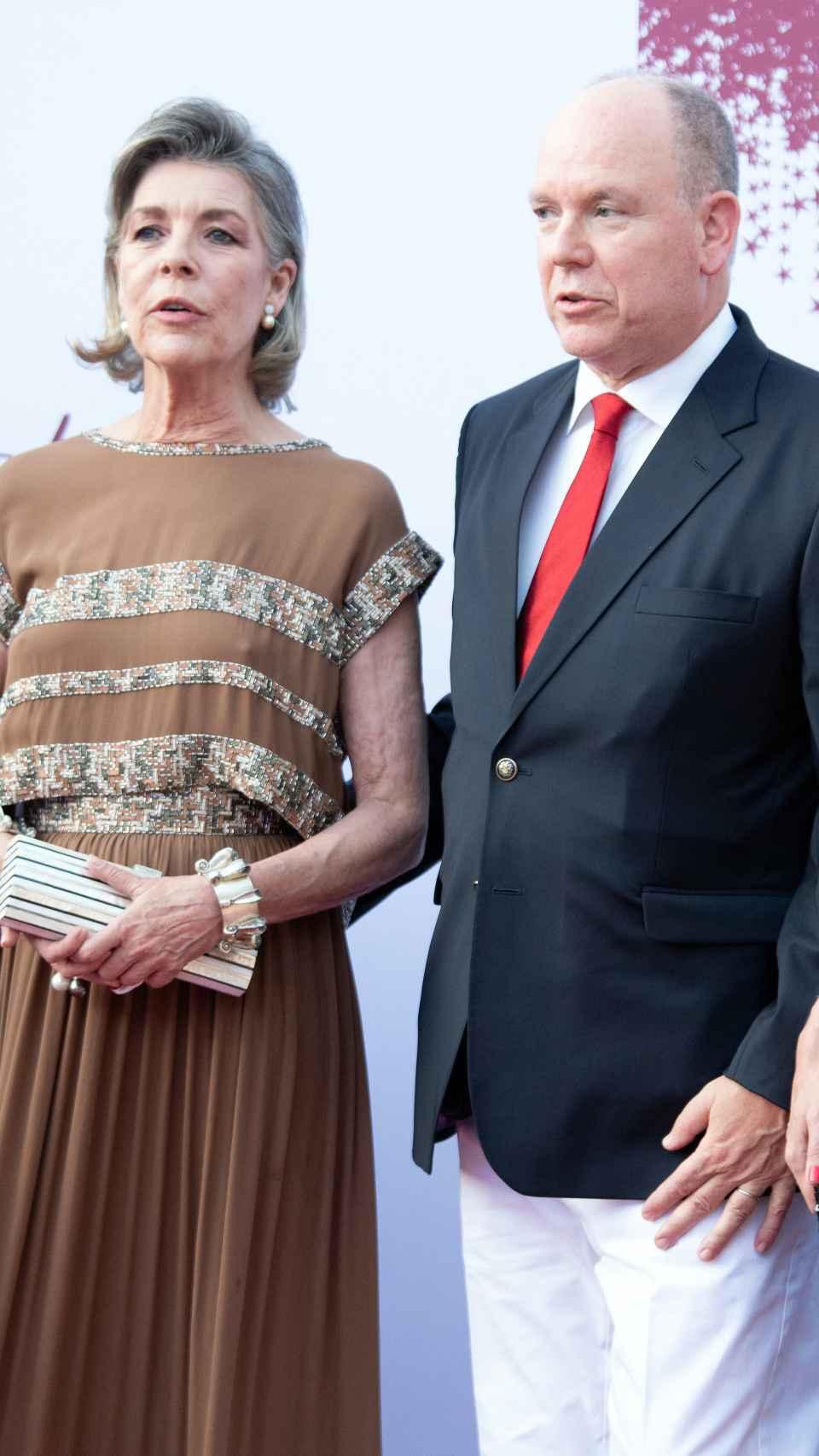 La princesa Carolina y Alberto de Mónaco.