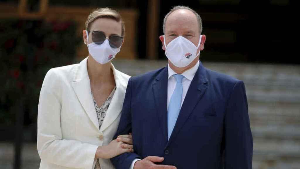 Charlène y Alberto de Mónaco, en junio de 2020
