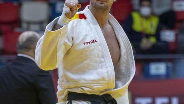 Nikoloz Sherazadishvili tras una competición