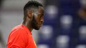 Usman Garuba en un entrenamiento con la selección española