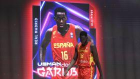 Usman Garuba en la presentación de la selección española de baloncesto para los JJOO de Tokio 2020
