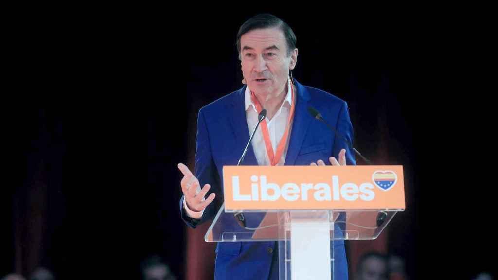 Pedro J. Ramírez, durante su conferencia en la convención de Ciudadanos.