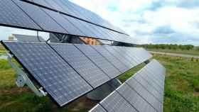 Imagen de archivo de un parque solar.