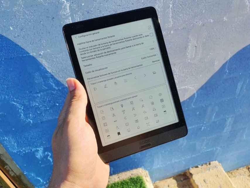 Onyx Boox Nova 3 Color: Personalización de la aplicación de ebooks