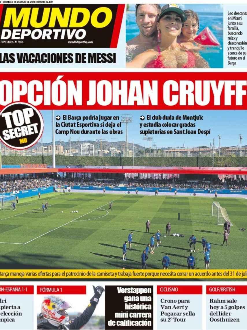 La portada del diario Mundo Deportivo (18/07/2021)