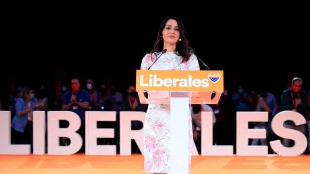 La presidenta de Ciudadanos, Inés Arrimadas, en la clausura de la Convención de su partido.