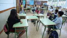 Un aula de un colegio de la Comunidad Valenciana, durante el curso pasado.