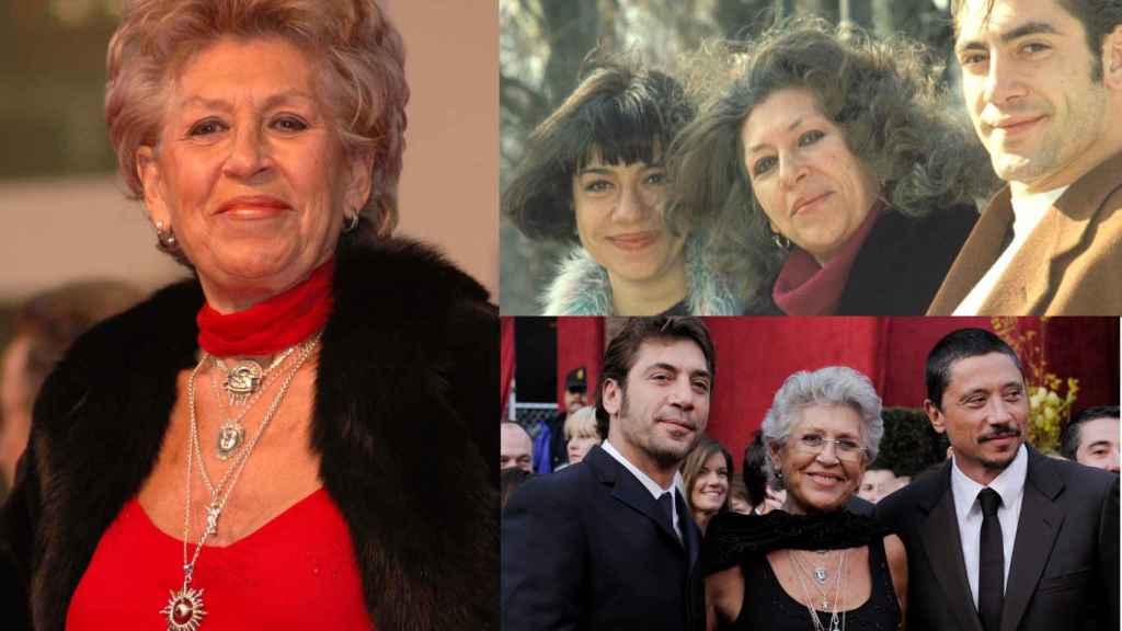 Pilar Bardem en montaje de JALEOS junto a sus hijos.