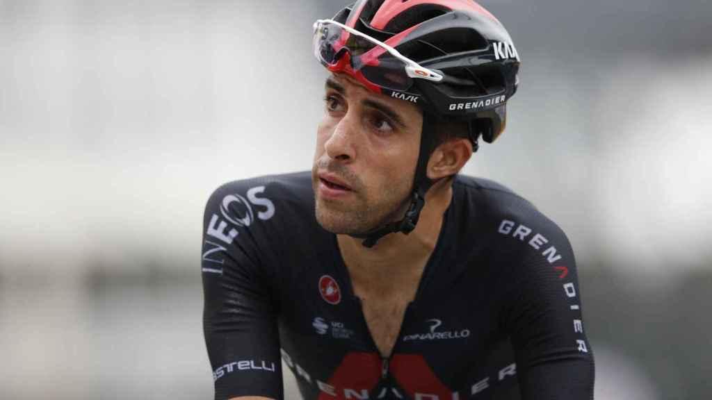 Jonathan Castroviejo tras una etapa del Tour de Francia 2021