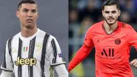 Cristiano Ronaldo y Mauro Icardi