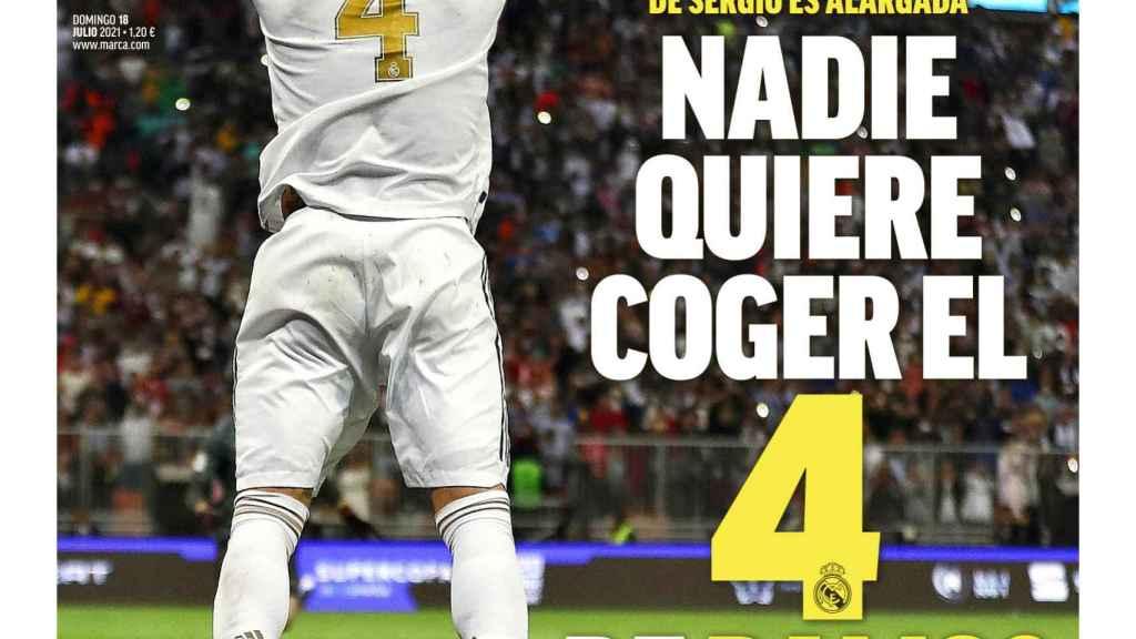 La portada del diario MARCA (18/07/2021)