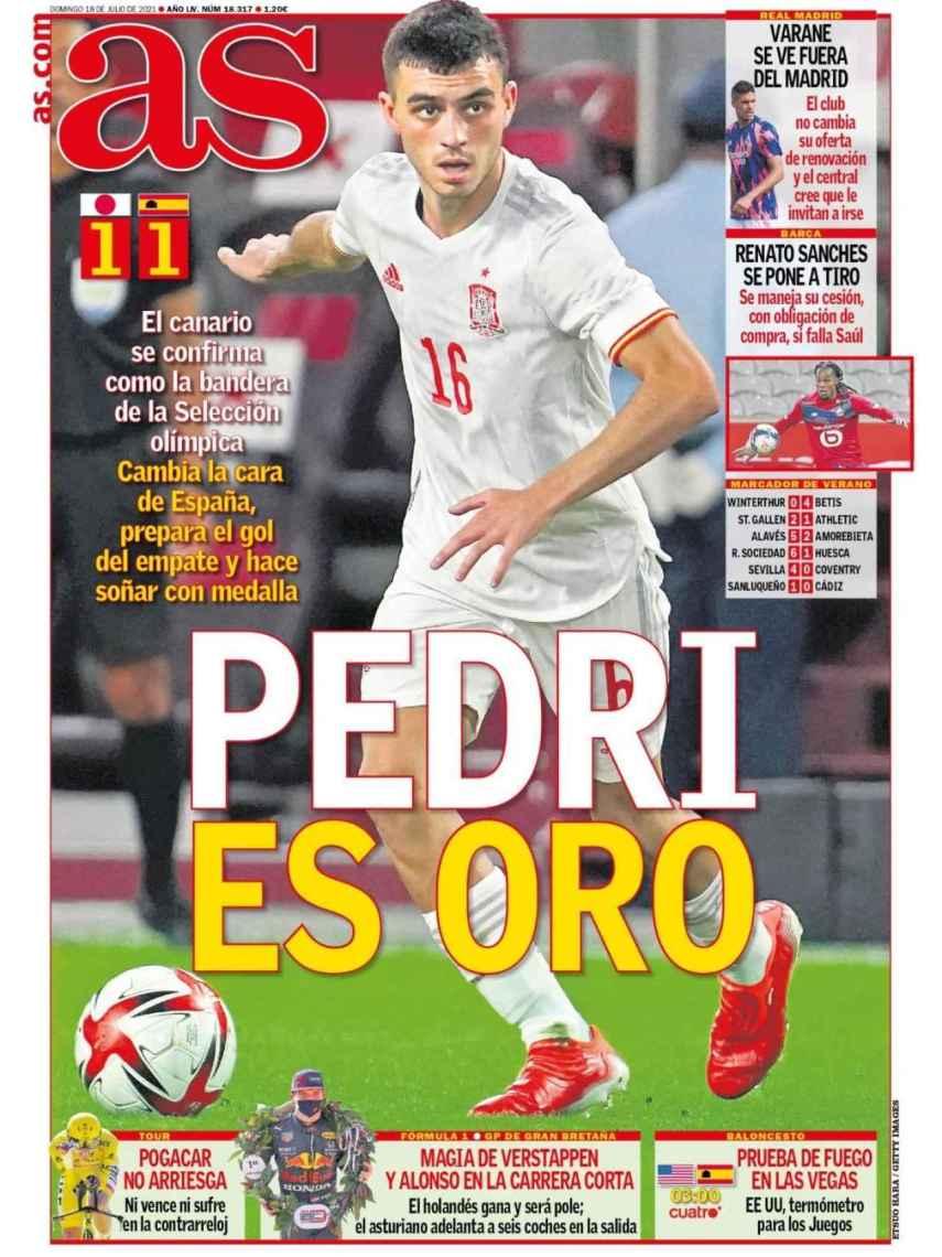 La portada del diario AS (18/07:/021)