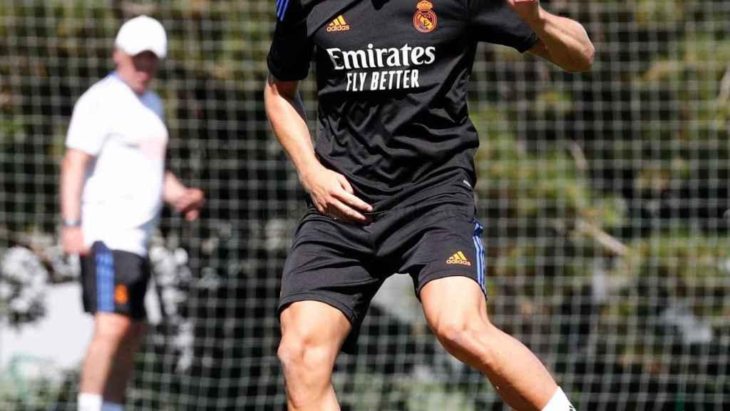 Martin Odegaard, durante un entrenamiento con el Real Madrid