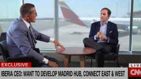 Javier Sánchez-Prieto, presidente y CEO de Iberia en su entrevista con la CNN.
