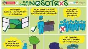 Uno de los carteles de la campaña por la salud de Alcázar de San Juan