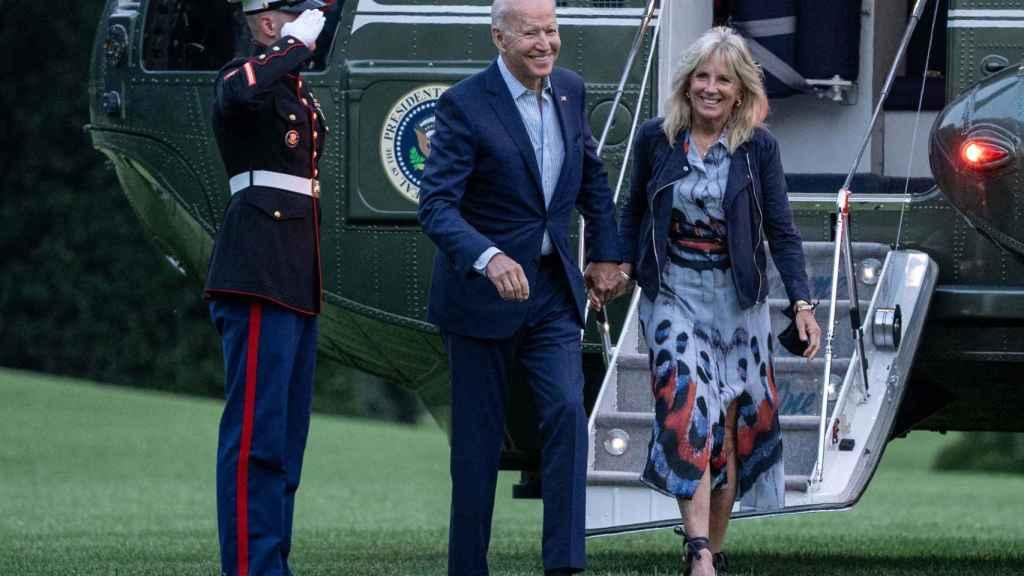 La pareja presidencial ha volado en el Air Force One.