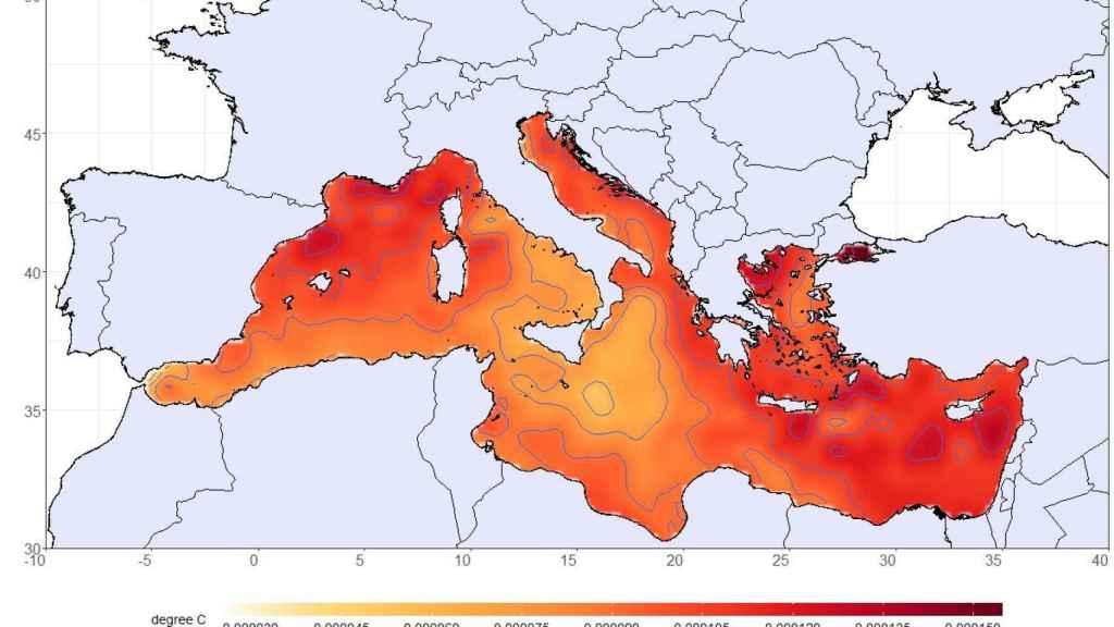 Calentamiento del mar Mediterráneo.