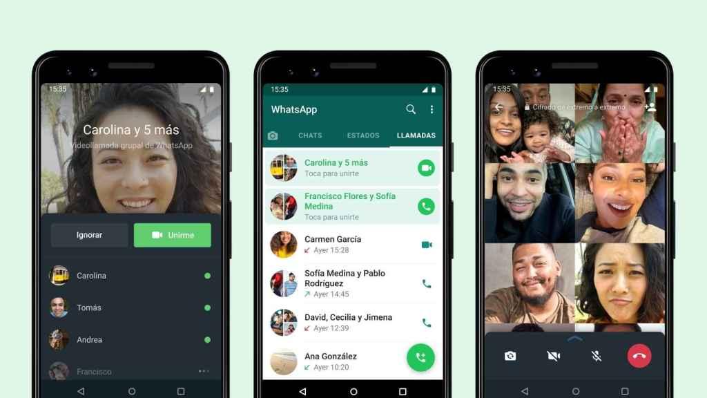 Nueva función de WhatsApp para videollamadas