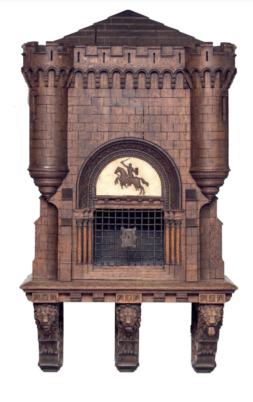 Mueble-castillete perteneciente a Pidal donde se guardaba uno de los códices originales del cantar
