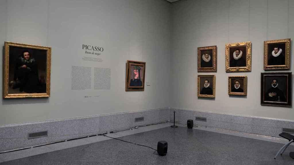 Picasso vuelve al Museo del Prado con 'Busto de mujer 43'. La pinacoteca presenta en sociedad el cuadro, que ha sido depositado por la familia mexicana Arango Montfull