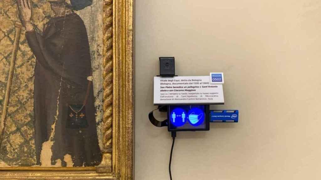 Sensor ShareArt en un museo de Bolonia