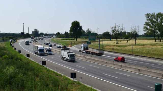 Vista de una de las autopistas de Sacyr en Italia.