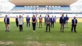 Una imagen de este lunes en el estadio La Rosaleda.