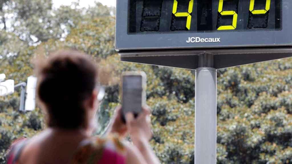 Temperatura en Valencia durante el último pico de calor.