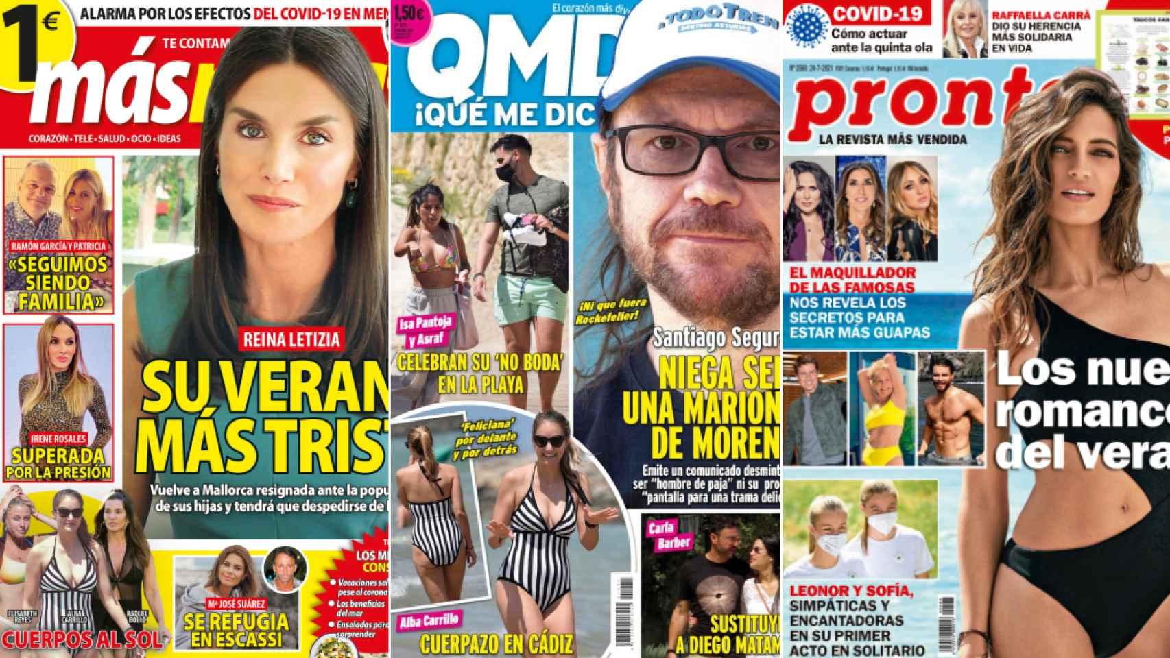 Portadas de las revistas del 19 de julio de 2021.