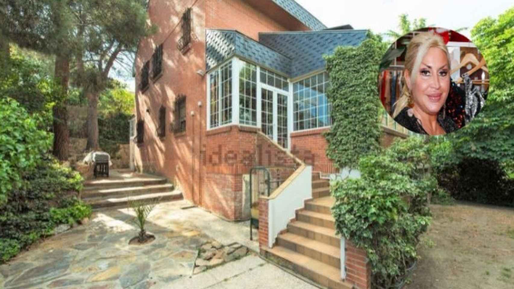 Raquel Mosquera y la casa que vende, en un montaje de JALEOS.