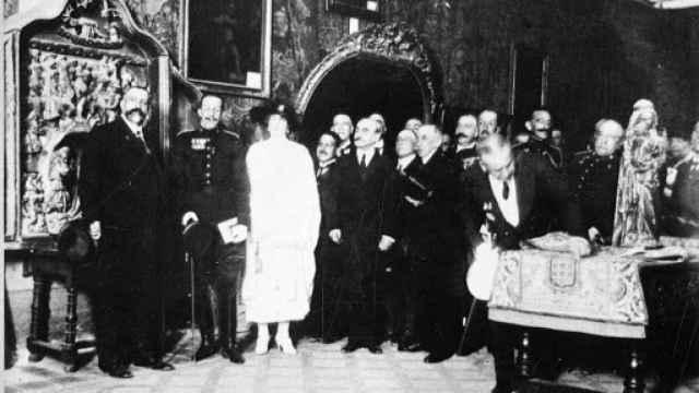 La comitiva real en Burgos el 20 de julio de 1921