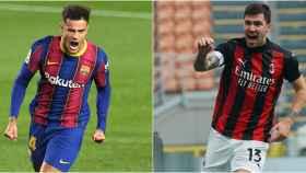 Philippe Coutinho y Alessio Romagnoli
