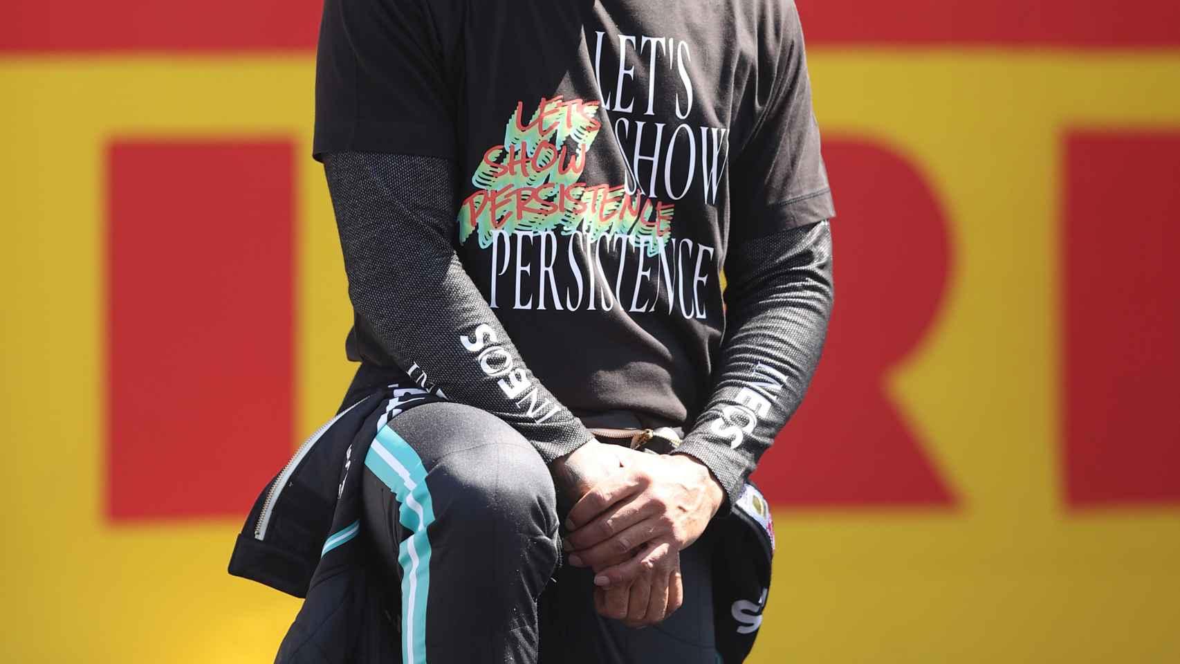 Lewis Hamilton, antes de comenzar el Gran Premio de Gran Bretaña de Fórmula 1