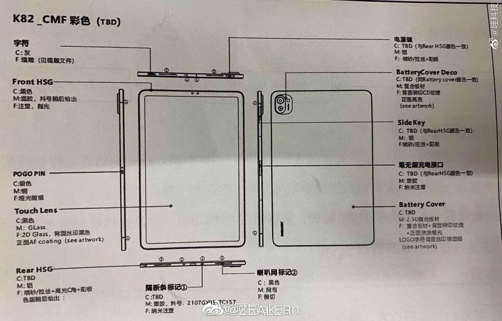 Documento filtrado de la tablet de Xiaomi