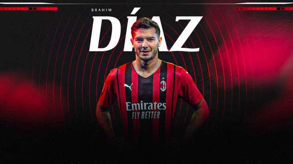 Brahim Díaz, en el anuncio de su cesión por el AC Milan hasta 2023