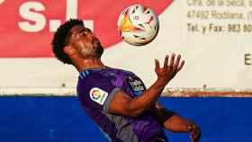 Janko, en un entrenamiento del Real Valladolid