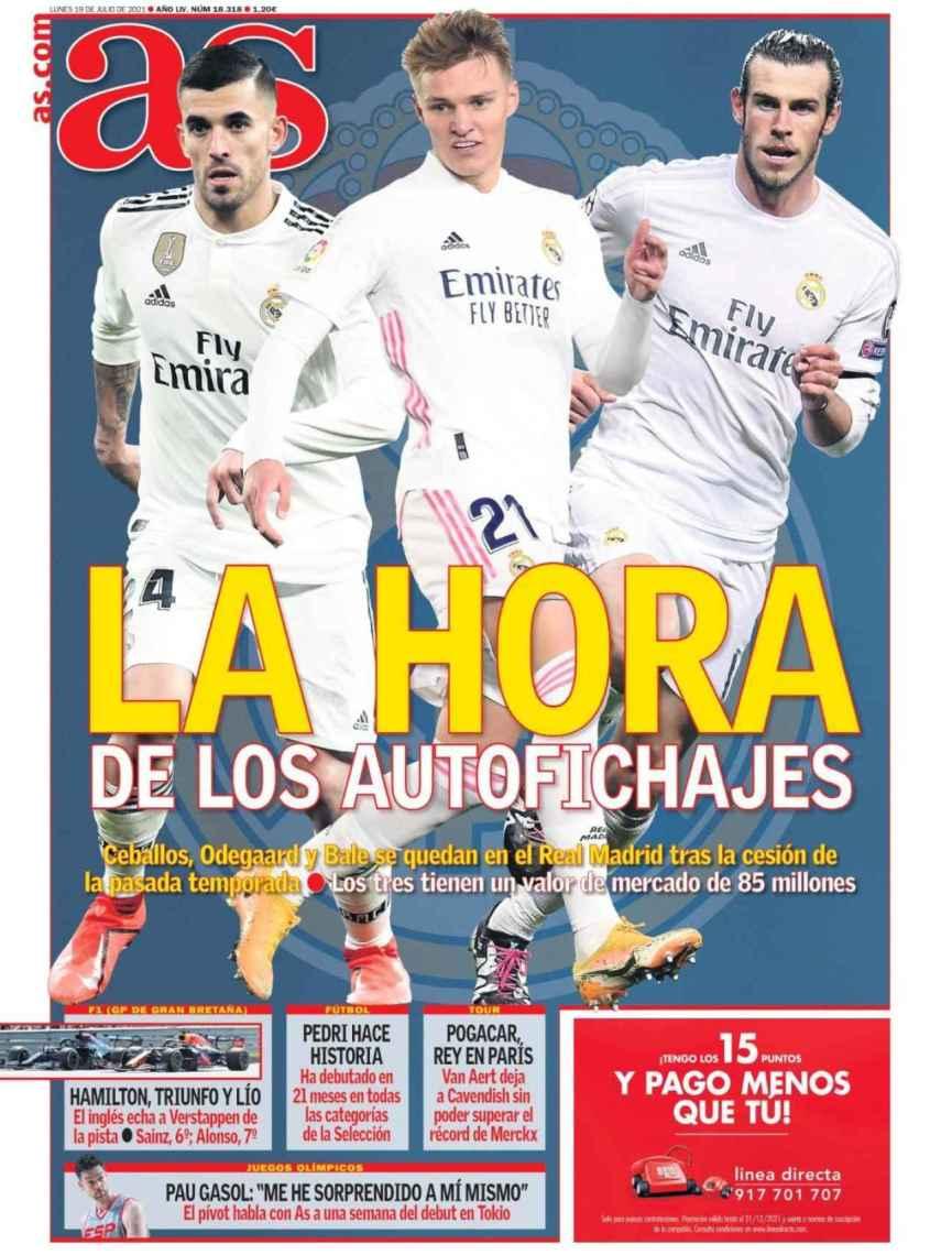 La portada del diario AS (19/07/2021)
