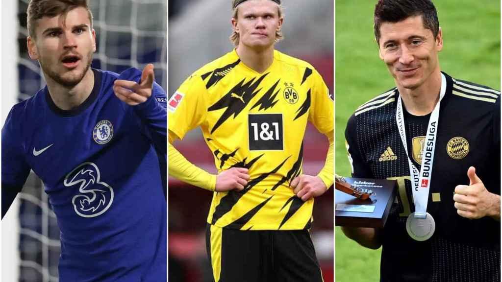 Timo Werner, Haaland y Robert Lewandowski