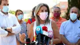 La alcaldesa de Toledo, Milagros Tolón, en una imagen de este lunes. Foto: Óscar Huertas