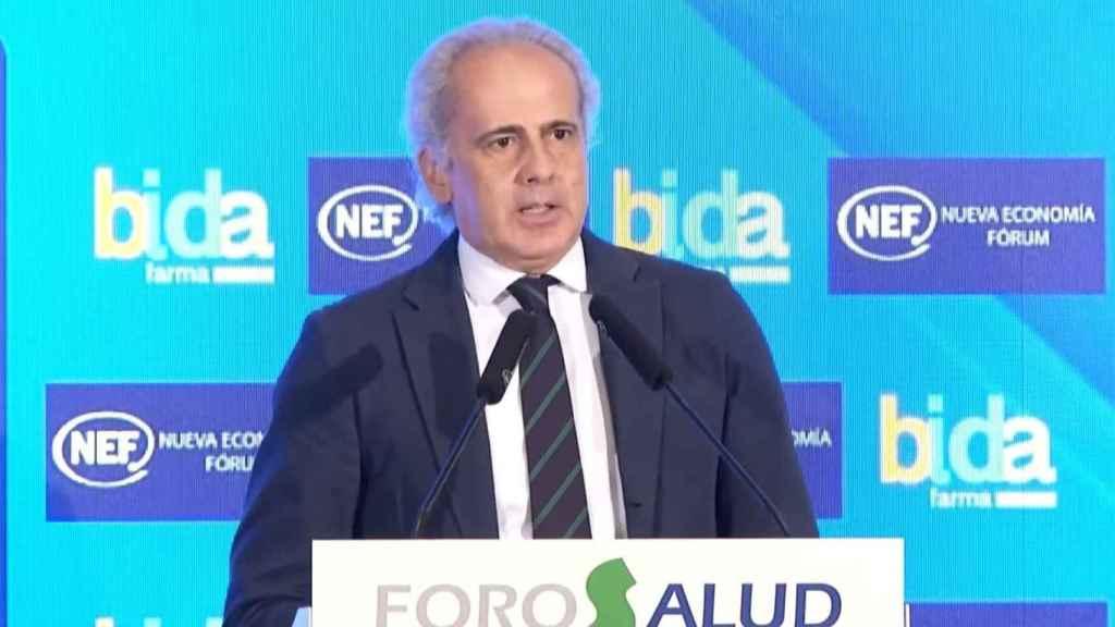 Enqrique Ruiz Escudero en el Nueva Economía Foro.